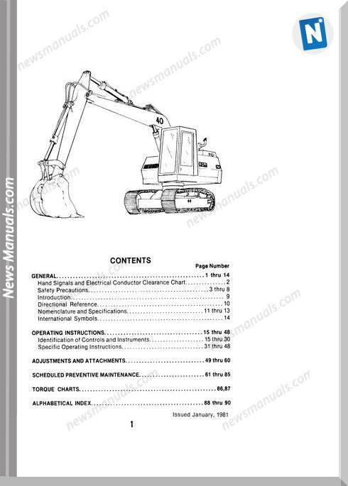 Case Excavator 40 E Series Operators Manual