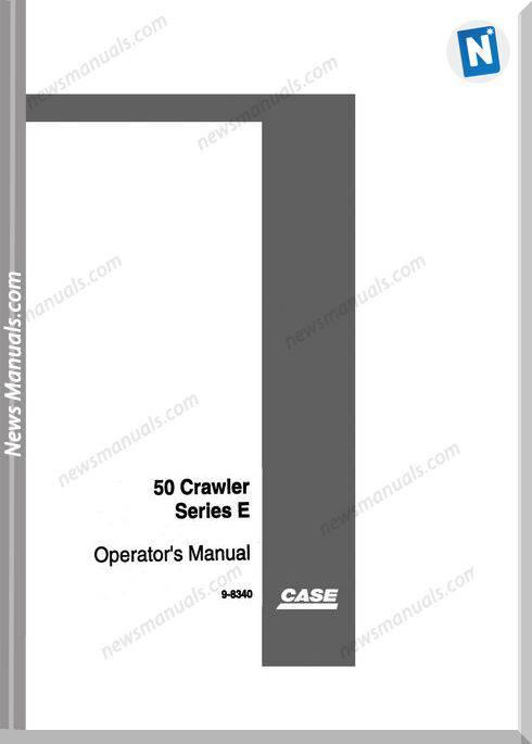 Case Excavator 50 E Series Operators Manual