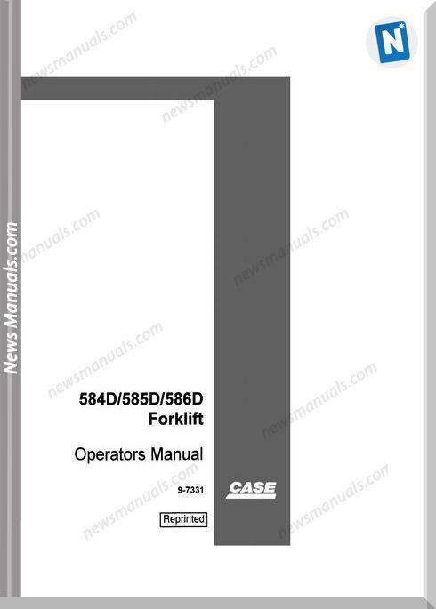 Case Forklift D Series Operators Manual