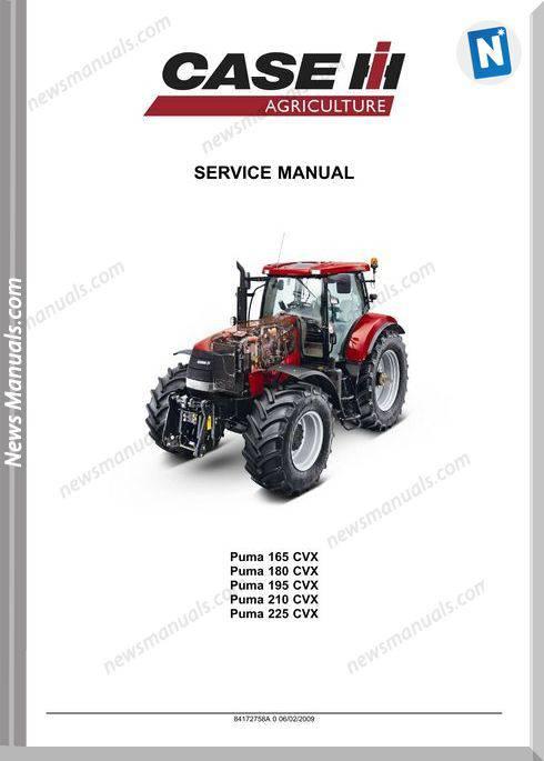 Case Ih Puma 165 180 195 210 225 Cvx Service Manual