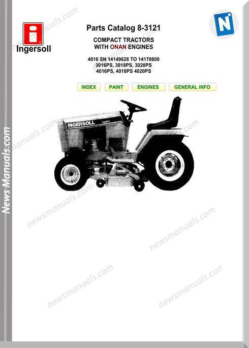 Case Ingersoll 4016Sn-3016Ps-18Ps-4016Ps Parts Manual