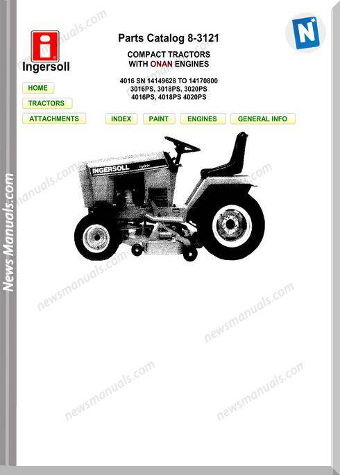 Case Ingersoll 4016Sn 3016Ps 3018Ps 3020Ps Parts Manual