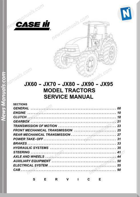 Case Jx60-70-80-90-95 Service Manuals