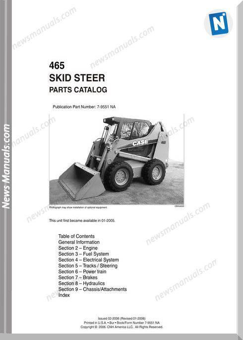 Case Skid Steer Loader 46 Parts Catalog