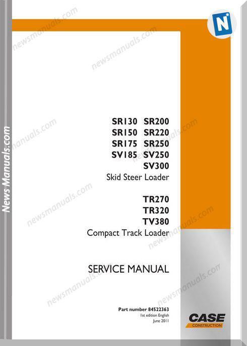 Case Sr Sv Tr Tv Service Manual 84522363