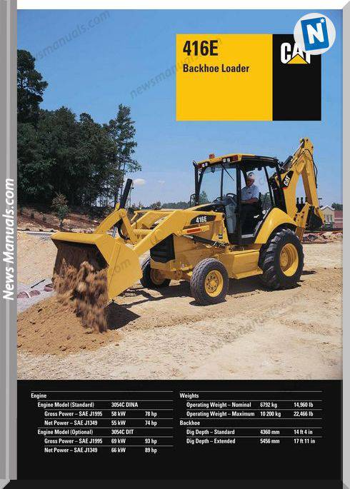 Cat 416E Technical Specifications