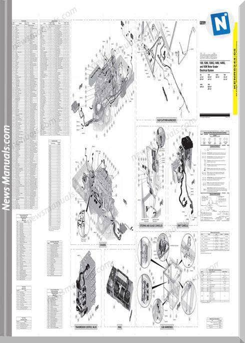 Caterpillar 12K,120K,120K2,140K(K2),160K Wiring Diagram