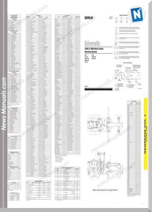 Caterpillar 140H 160H Motor Grader Electrical System
