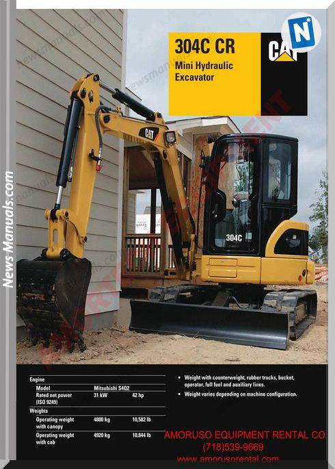 Caterpillar 304 Ccr Technical Specifications
