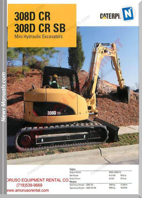 Caterpillar 308 Dcrsb Technical Specifications