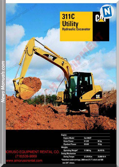 Caterpillar 311 Cu Technical Specifications