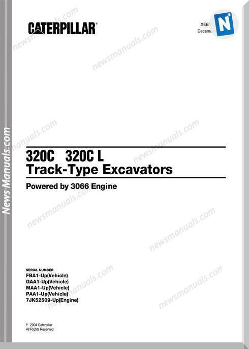 Caterpillar 320C 320C L Excavators Parts Manual