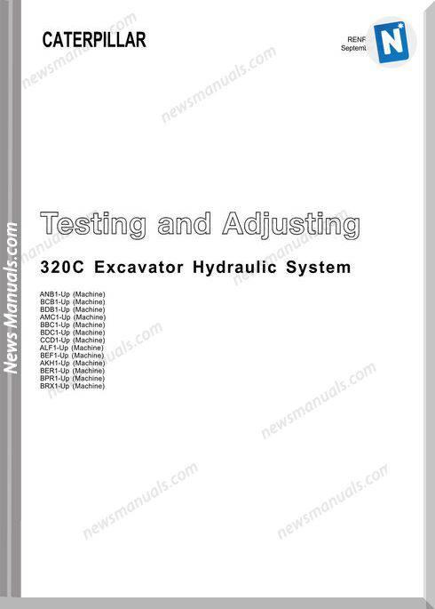 Caterpillar 320C Excavator Hidraulic Repair Manual
