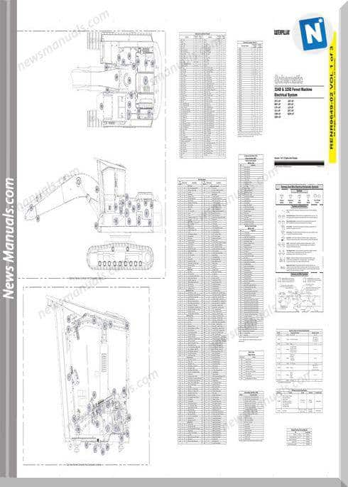 Caterpillar 324D 325D Forest Machine Electrical System