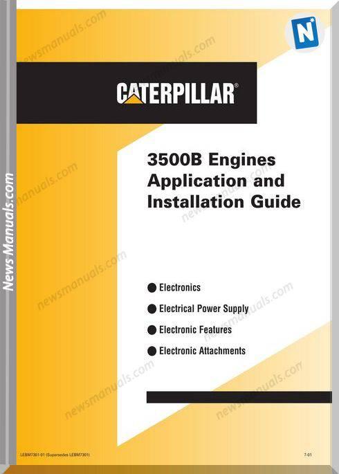 Caterpillar 3500B Engines Application Installation