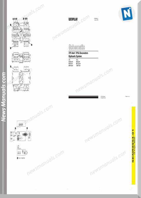 Caterpillar 375,375L Excavator Hydraulic Wiring Diagram