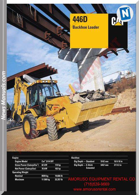 Caterpillar 446 Technical Specifications