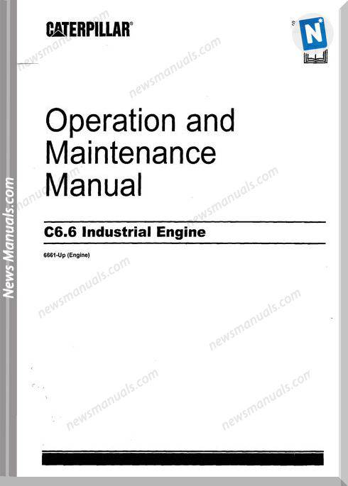 Caterpillar 6 6 Operators Manual