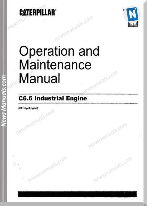 Caterpillar 6 6 Operators Manual