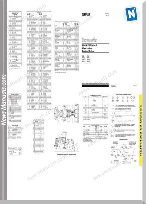 Caterpillar 966g 972g Wheel Loader Wiring Diagram