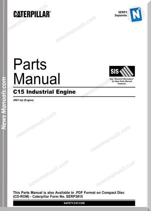Caterpillar C15 Industrial Engine Parts Manual