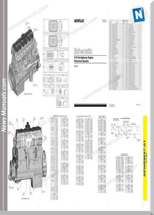 Caterpillar C15 On-Highway Schematic 003255