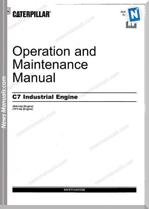 Caterpillar C7 Engine Operation Manual