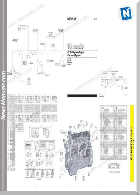 Caterpillar C7 On-Highway Engine Electrical Schematic
