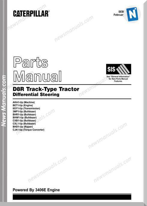 Caterpillar D8R Parts Manual Sebp2349-13