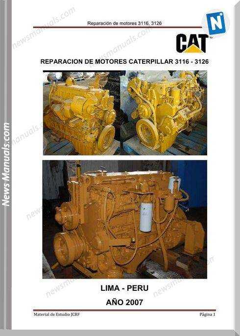Caterpillar Engine 3126 Service Manual Spanish