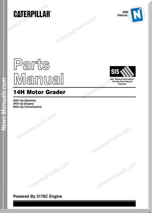 Caterpillar Motor Grader14H Parts Manual