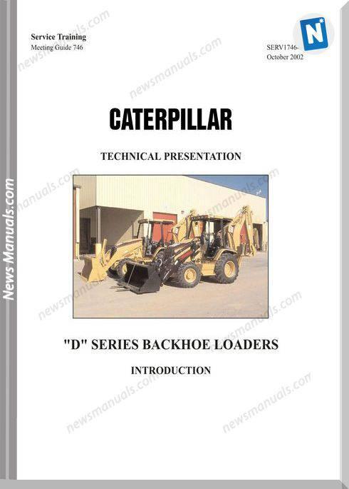 Caterpillar Serie-D Backhoe Loaders Teachnical Manual