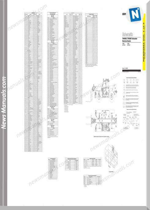Caterpillar Th460B Th560B Telehandler Wiring Diagram