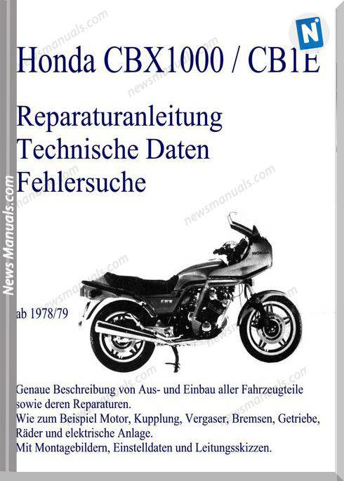 Cbx 1000 78 79 Service Manual German