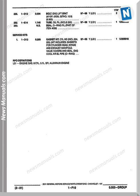 c5 corvette service manual