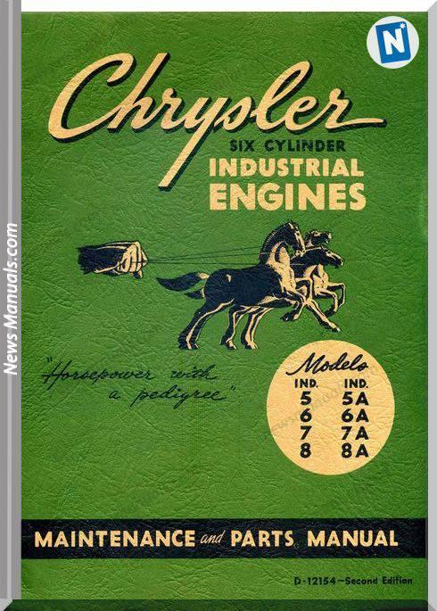 Chrysler 6 Cylinder Engines Parts Manual
