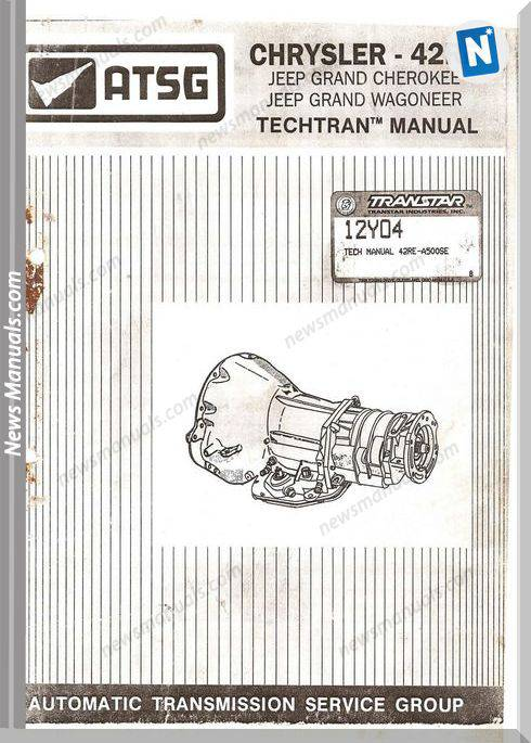 Chrysler Atsg 42Re A500Se Technical Manual