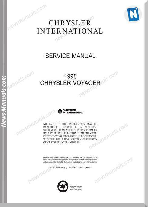Chrysler Voyager Service Manual Gs 1999 1996