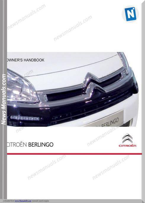 Citroen Berlingo Owner S Handbook Manual
