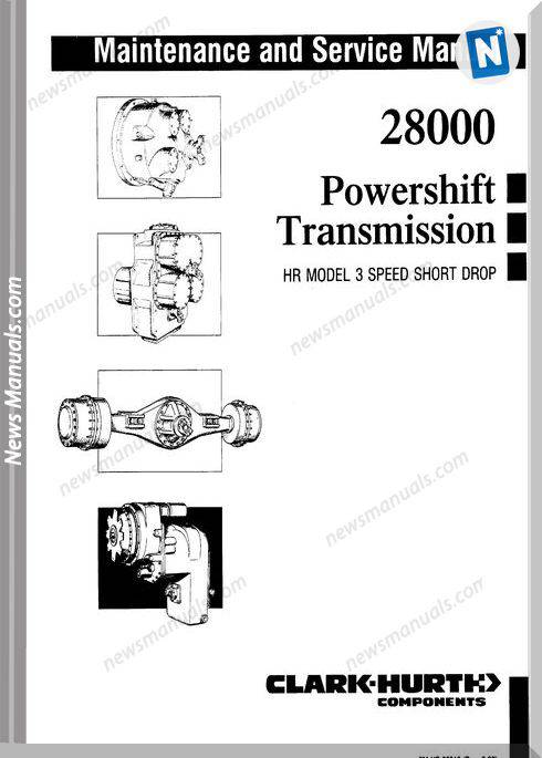 Clark 28000 Powershift Service Manual