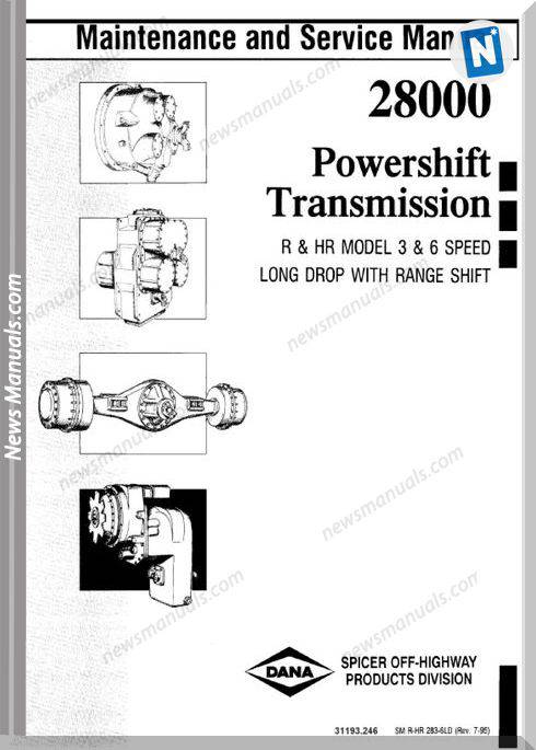 Clark 28000 Powershift Transmission Service Manual