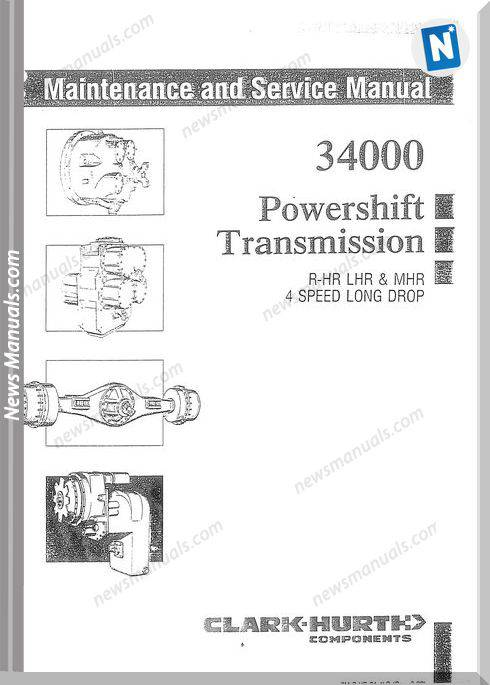Clark 34000 Powershift Service Manual