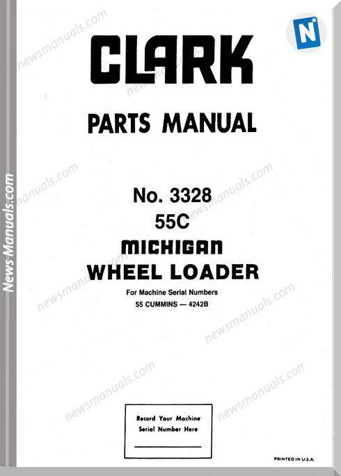 Clark 55C Parts Manual