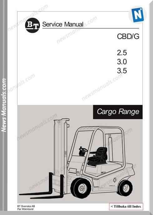 Clark Forklift Cargo Range Cbd Cbg 25-35 Service Manual