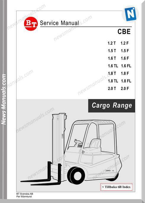 Clark Forklift Cargo Range Cbe 12-20T F Service Manual