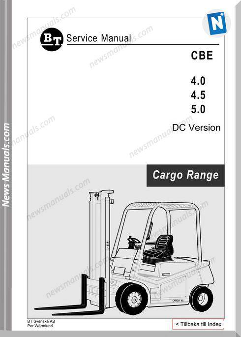 Clark Forklift Cargo Range Cbe 40-50 Dc Service Manual