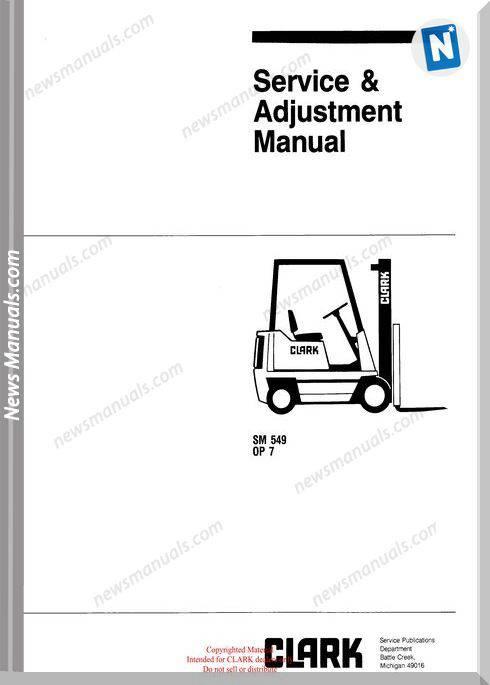 Clark models 549 Service Manual