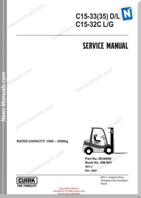 Clark models 661 Service Manual