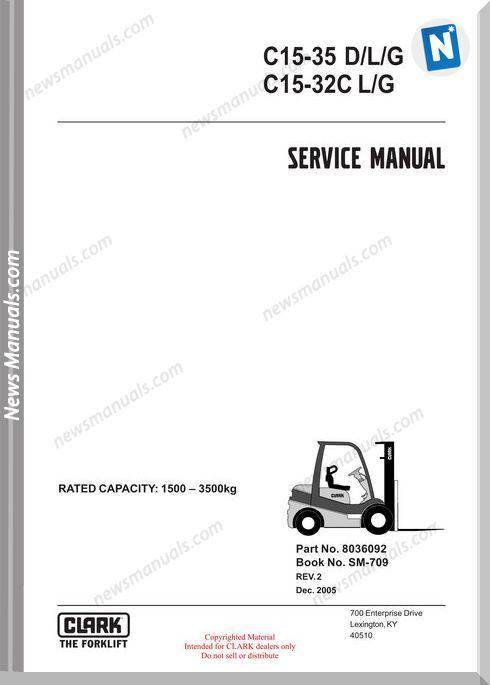 Clark models 709 Service Manual