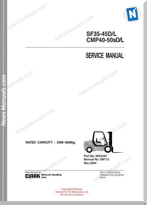 Clark models 712 Service Manual